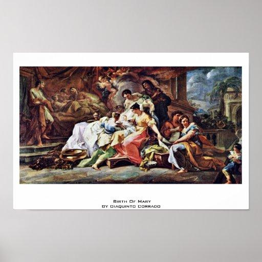 Naissance de Mary par Giaquinto Corrado Posters