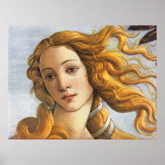 Naissance de petit groupe de Vénus, Botticelli Poster
