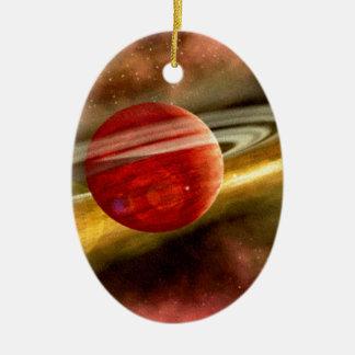 Naissance de Saturn Ornement Ovale En Céramique