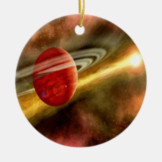 Naissance de Saturn Ornement Rond En Céramique