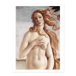 Naissance de Vénus en détail Cartes Postales