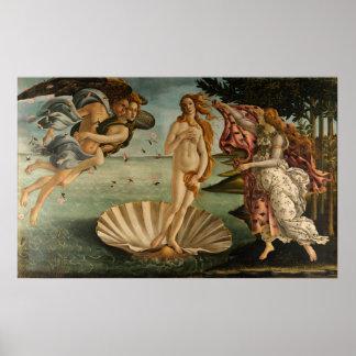 Naissance de Vénus par Botticelli Poster