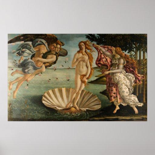 Naissance de Vénus par Botticelli Posters