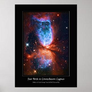 Naissance d'étoile dans le Cygnus de constellation Posters
