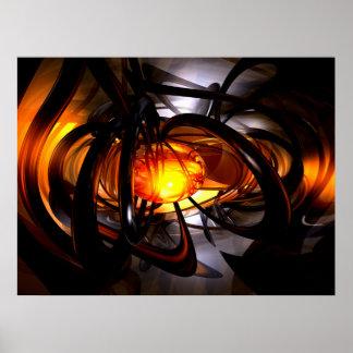 Naissance d'une affiche abstraite de Sun