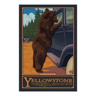 N'alimentez pas les ours - Yellowstone parc nation Affiches