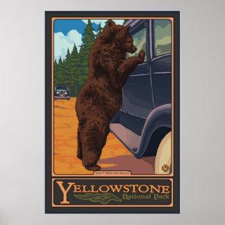 N'alimentez pas les ours - Yellowstone parc nation Posters