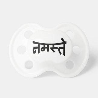 Namaste (नमस्ते) - manuscrit de Devanagari Tétine