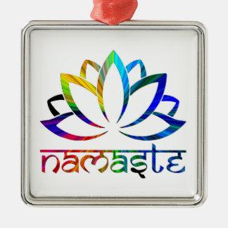 Namaste, fleur de Lotus, arc-en-ciel, ornement