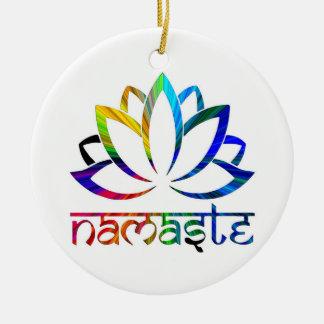 Namaste, fleur de Lotus, chant religieux, ornement