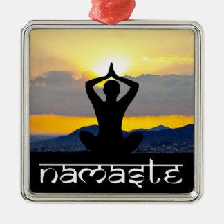 Namaste, lever de soleil de yoga, ornement de