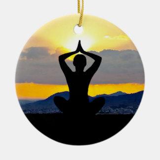 Namaste, lever de soleil de yoga, ornement de Noël