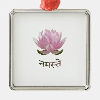 Namaste - Lotus Ornement Carré Argenté
