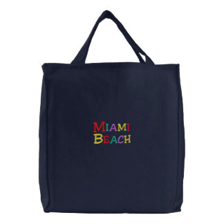 Namedrop la plage de Nation_Miami multicolore Sac Brodé