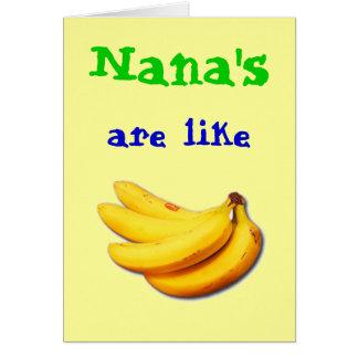 Nana sont comme la carte de voeux de la banane