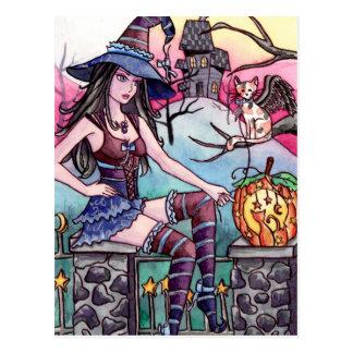 Nandou - carte postale hantée de sorcière de