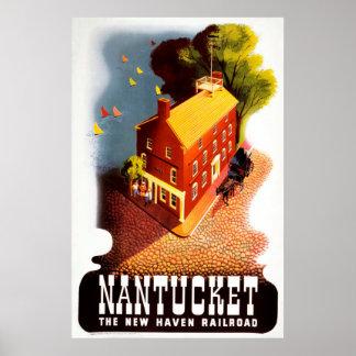 Nantucket le poster vintage de chemin de fer de
