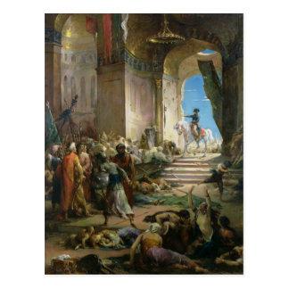 Napoleon Bonaparte dans la mosquée grande au Caire Carte Postale