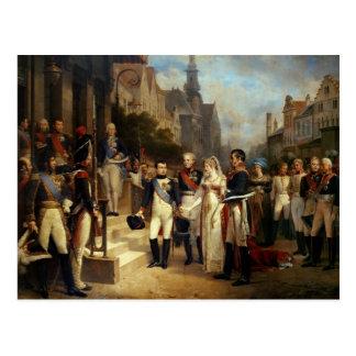 Napoleon Bonaparte recevant la Reine Louisa Carte Postale