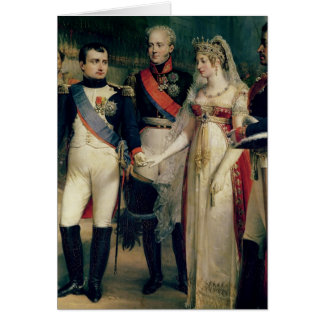 Napoleon Bonaparte recevant la Reine Louisa Cartes