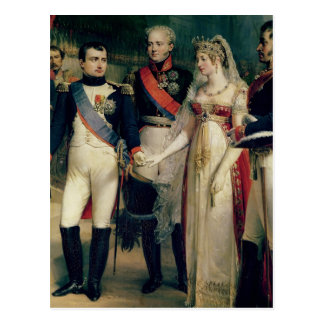 Napoleon Bonaparte recevant la Reine Louisa Cartes Postales