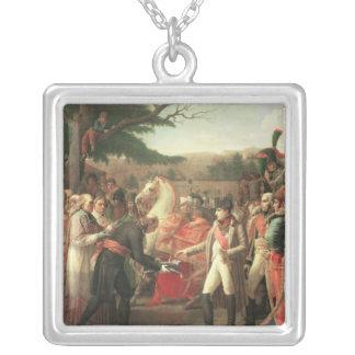 Napoleon Bonaparte recevant les clés Pendentif Carré