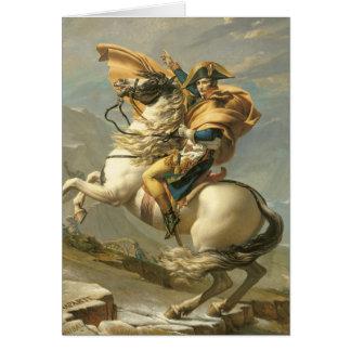Napoléon croisant les Alpes chez le St Bernard Carte De Vœux