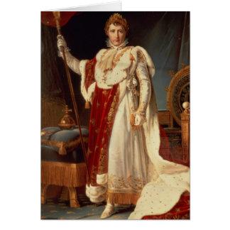 Napoléon dans des robes longues de couronnement, cartes