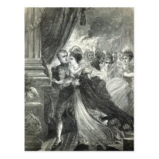 Napoléon et Marie-Louise s'échappant du Carte Postale