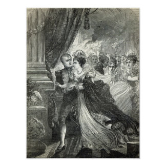 Napoléon et Marie-Louise s'échappant du Posters
