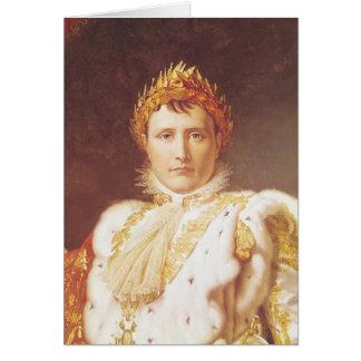 Napoléon I dans des robes longues de couronnement, Carte De Vœux