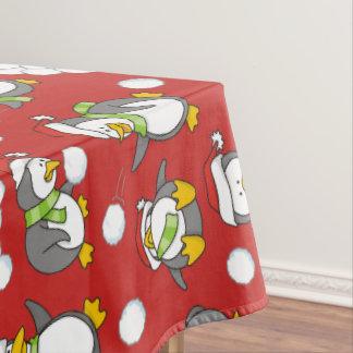 Nappe Arrière - plan de pingouins de Noël