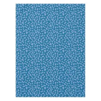 """Nappe bleue 52"""" de coton de pois x 70"""""""