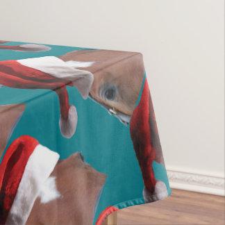 Nappe Cheval de casquette de Père Noël de Noël