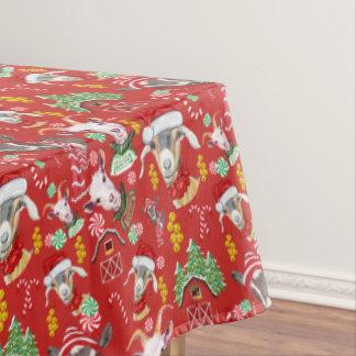 Nappe CHÈVRES sucrerie de Noël et tintements du carillon