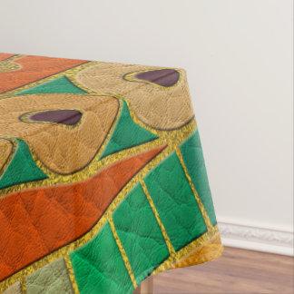 Nappe Cuir de relief de motif ethnique tribal coloré