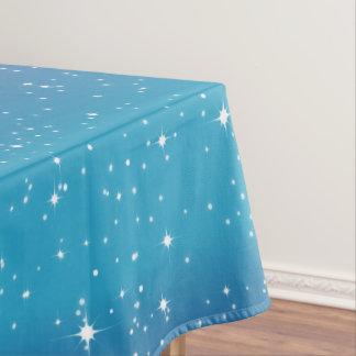 Nappe Étoiles simples/arrière - plan bleu Tablecloth1 de