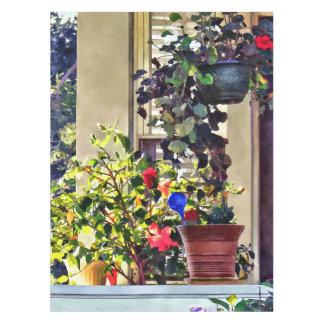 Nappe Fleurs sur le porche