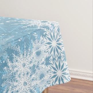 Nappe Flocons de neige blancs sur le bleu
