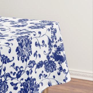 Nappe florale bleue