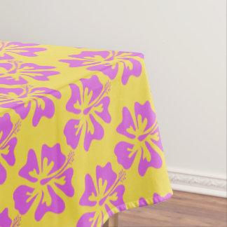 Nappe florale de motif de fleur de ketmie d'Hawaï