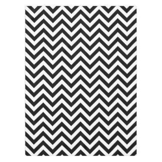 Nappe Grand motif de zigzag noir et blanc de Chevron
