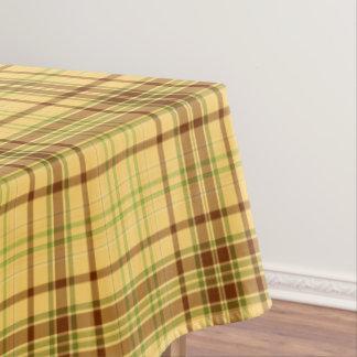 Nappe jaune de motif de tissu de plaid