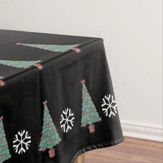 Nappe L'arbre de Noël avec le rouge de décorations