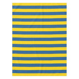 Nappe Les lignes de rayures de drapeau de la Suède
