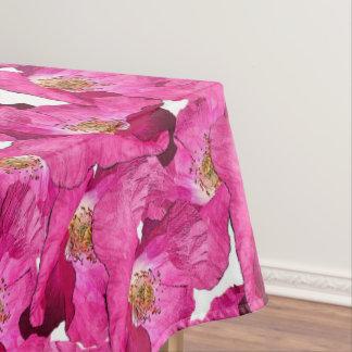 Nappe Modèle rose de pavots floraux