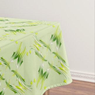 Nappe Motif baroque de vert de chaux de style