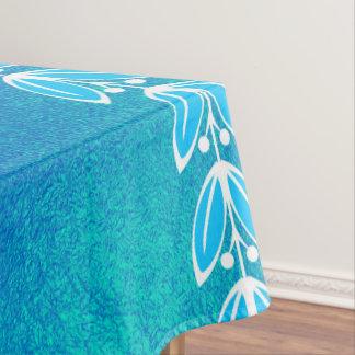 Nappe Motif grec en verre turquoise bleu