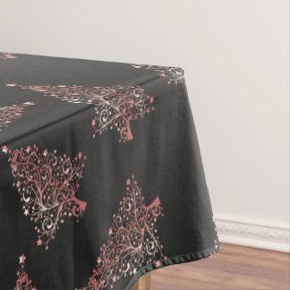 Nappe Motif rose moderne élégant d'arbre de Noël d'or
