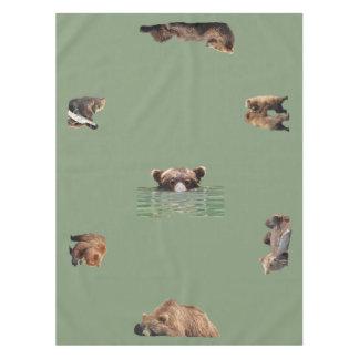 """Nappe Nappe, 52"""" x70"""" avec l'ours gris et petits animaux"""